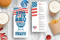 4Th Of July Dl Rack Card Template In Psd, Ai & Vector with 4Th Of July Menu Template