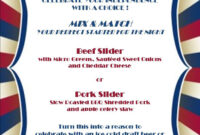 4Th Of July Fun At Hilton Anaheim! | Today @ Hilton Anaheim throughout 4Th Of July Menu Template