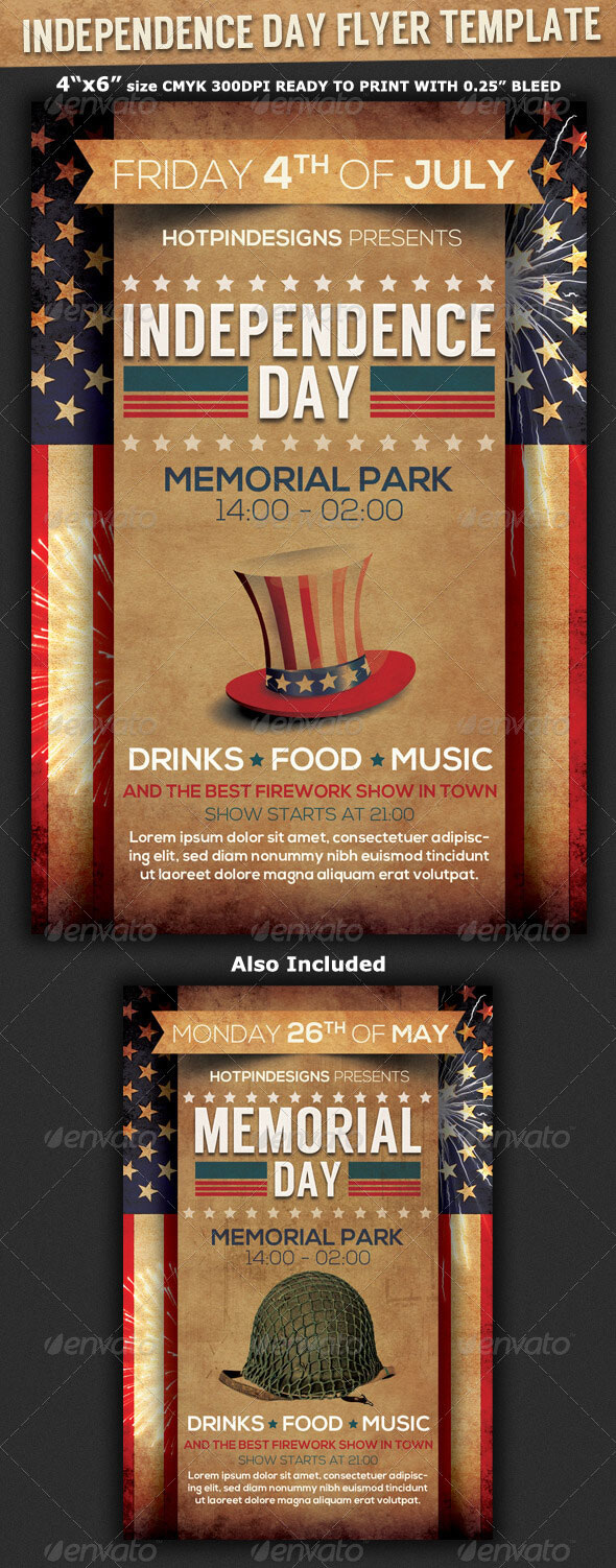 4Th Of July Menu Templates And Party Flyers In Pdf, Eps With Regard To 4Th Of July Menu Template