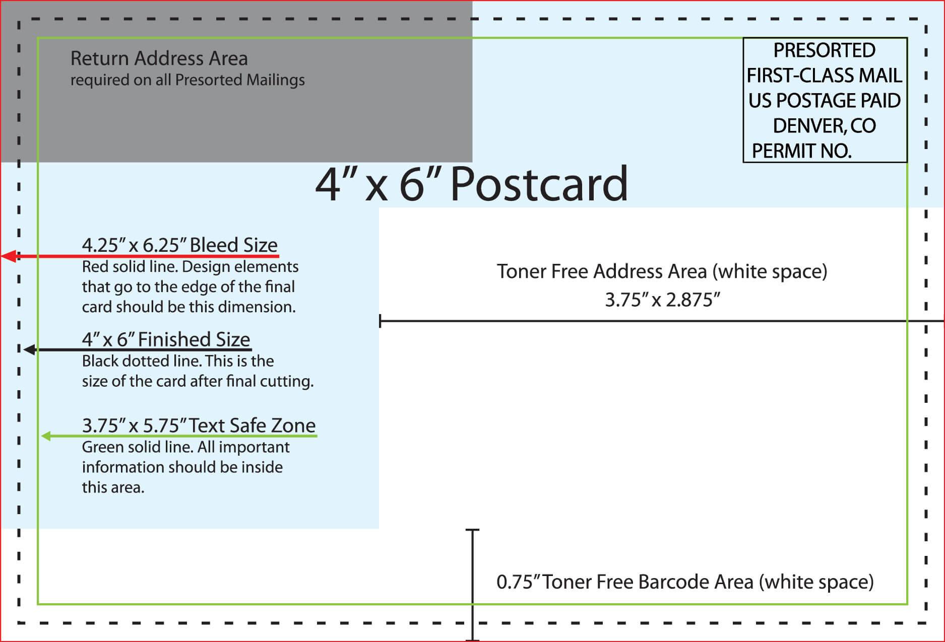 4X6 Postcard - Colona.rsd7 Pertaining To 4 X 6 Postcard Template
