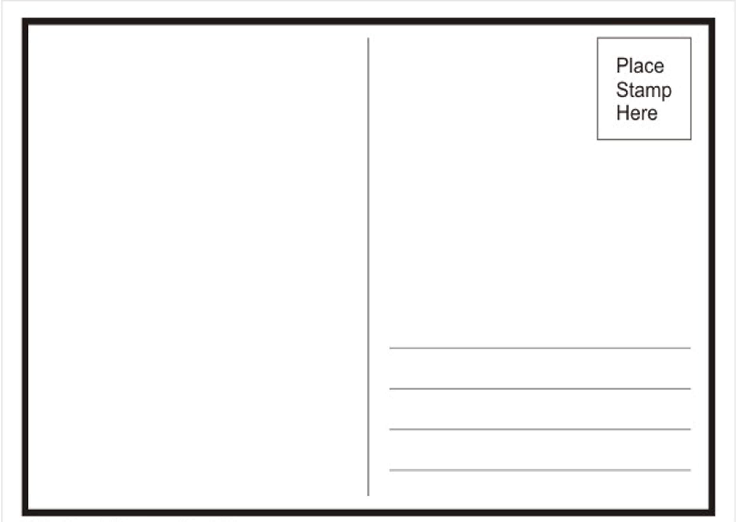 4×6 Postcard Template Word Awesome 34 Blank Postcard Inside Back Of Postcard Template Photoshop