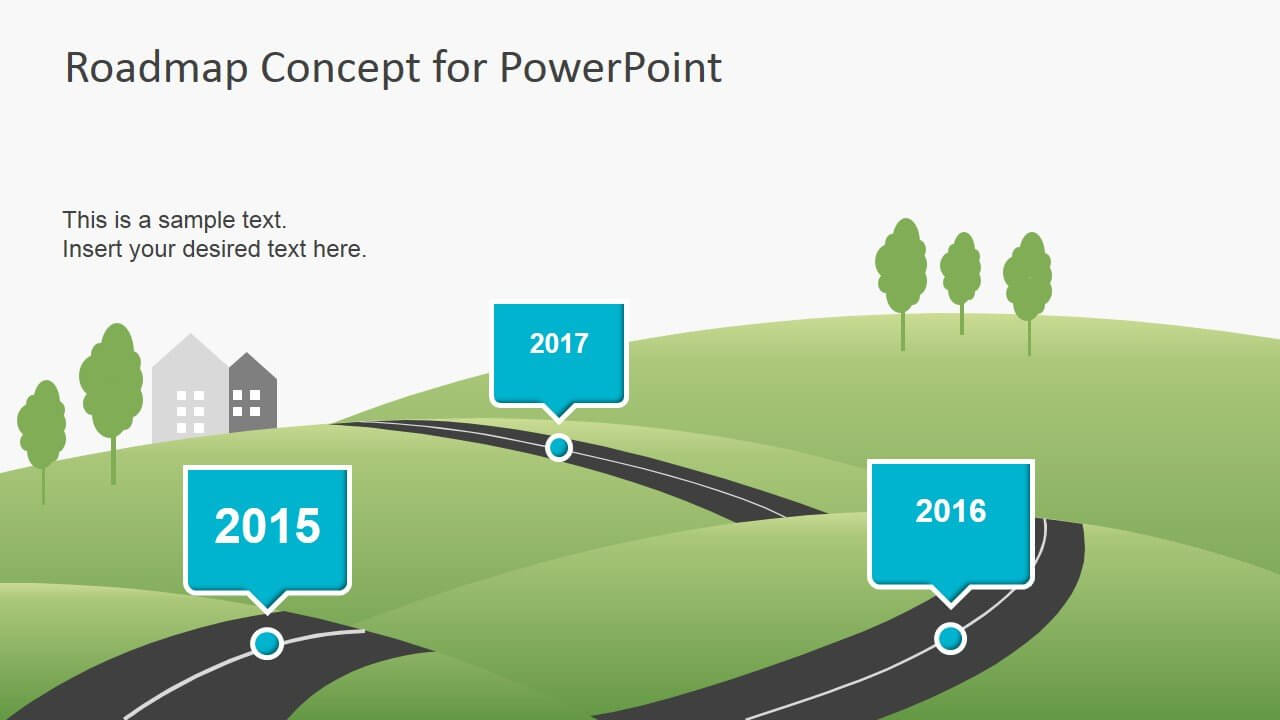 5+ Best 90 Day Plan Templates For Powerpoint Regarding Blank Road Map Template