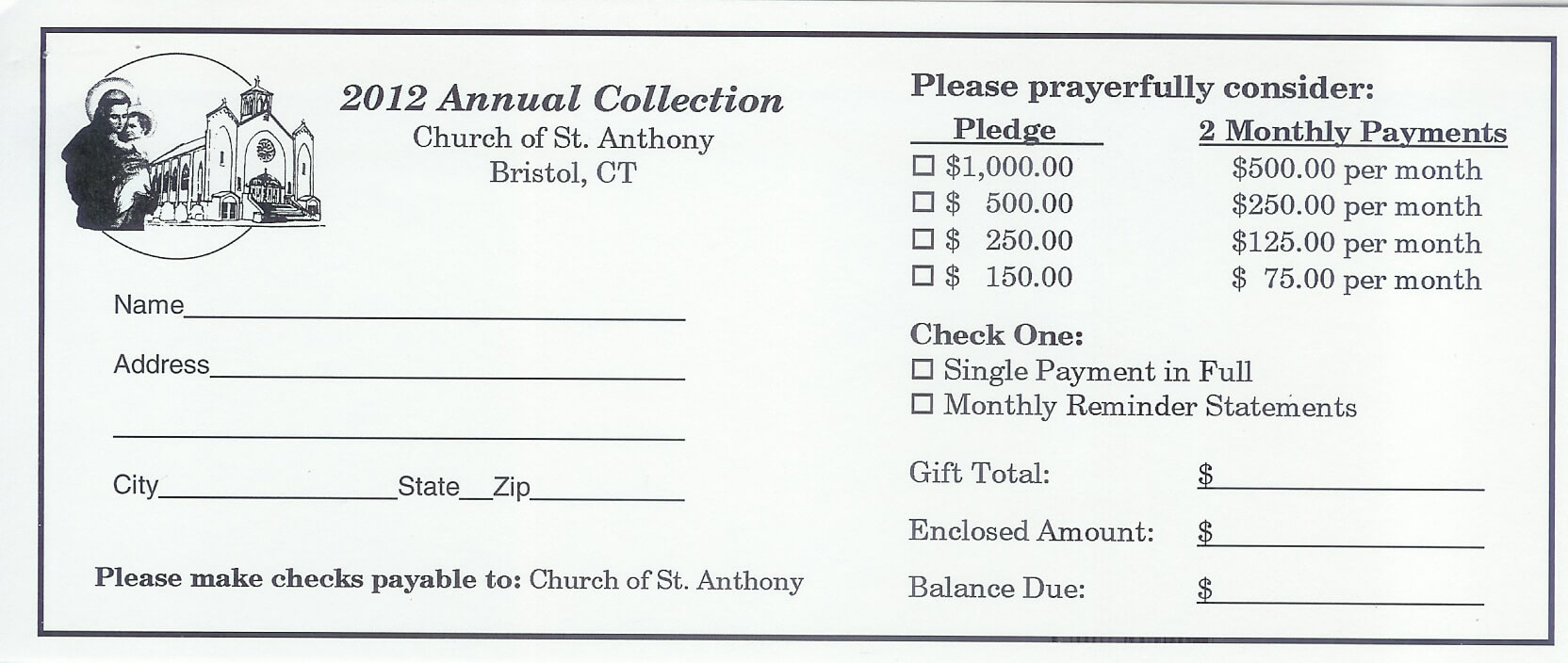 5 Best Photos Of Church Building Fund Pledge Form - Church With Regard To Building Fund Pledge Card Template