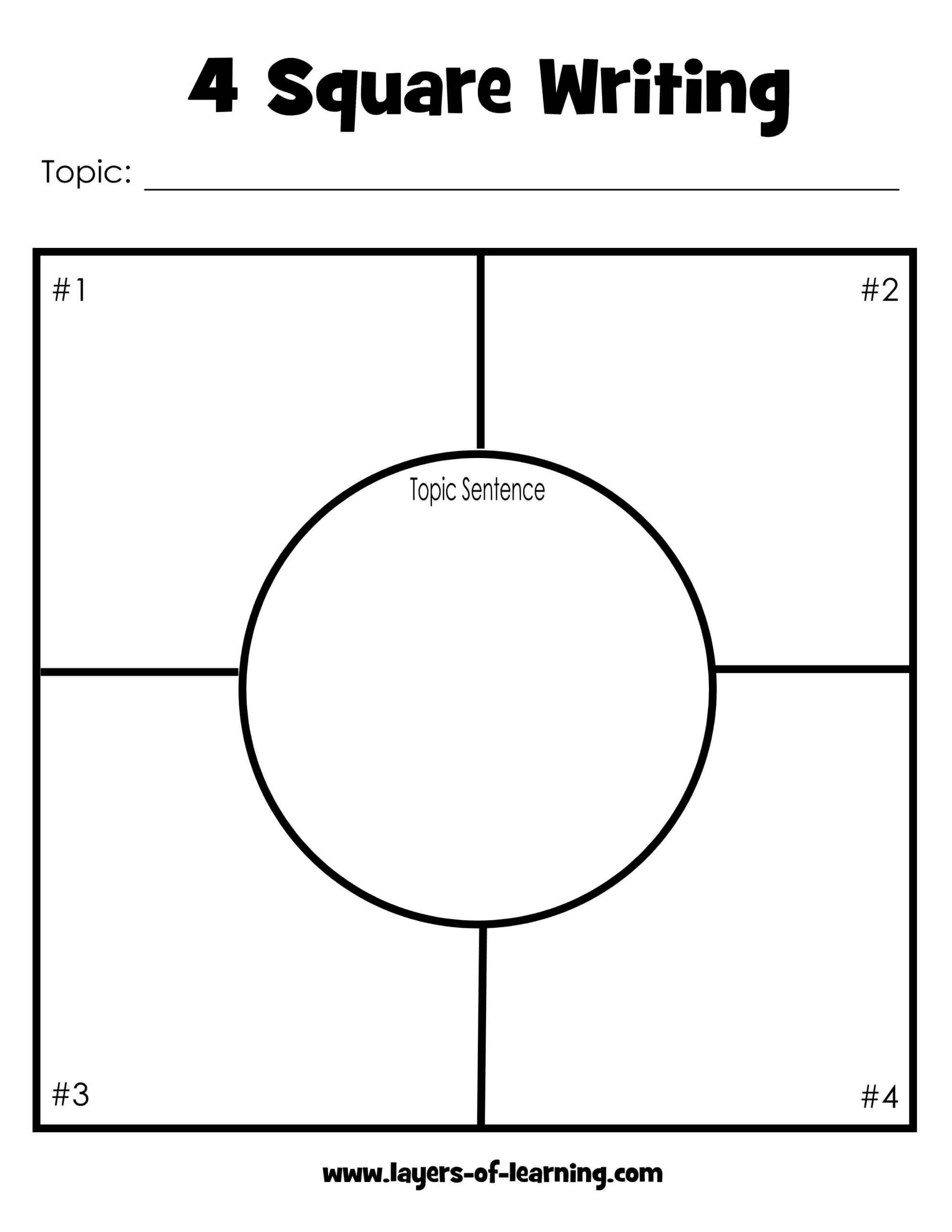 5 Best Photos Of Four Square Writing Template Printable With Blank Four Square Writing Template