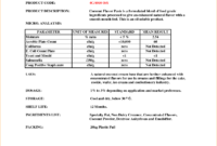 5+ Certificate Of Analysis Template | Outline Templates for Certificate Of Analysis Template