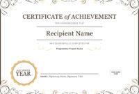 50 Free Creative Blank Certificate Templates In Psd regarding Certificate Of Achievement Template Word