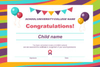 50 Free Creative Blank Certificate Templates In Psd throughout Certificate Of Achievement Template For Kids