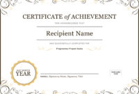 50 Free Creative Blank Certificate Templates In Psd with regard to Certificate Template For Project Completion