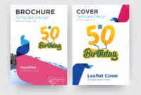 50Th Birthday Brochure Flyer Design Template With Abstract Photo.. in 50Th Birthday Flyer Template Free