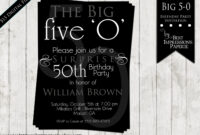 50Th Birthday Invitation Wording Samples | | Dolanpedia with regard to 50Th Birthday Flyer Template Free