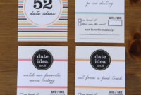 52 Date Night Ideas Printable Cards + Gift Box in 52 Reasons Why I Love You Cards Templates Free