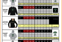 54 [Pdf] Custom T Shirt Invoice Template Printable Zip Docx inside Apparel Order Form Template