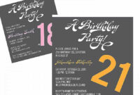 55 Creating 21St Birthday Card Invitation Templates In Word with 21St Birthday Invitation Template