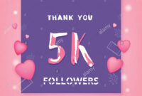 5K Followers Thank You Square Banner. Template For Social in 5K Flyer Template