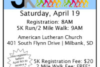5K Race Flyer Template – Cards Design Templates within 5K Flyer Template
