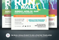 5K Run-&-Walk Event Flyer & Poster Corporate Identity Template throughout 5K Flyer Template