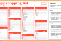 6+ Excel Grocery List Template | Inta Cf intended for Blank Grocery Shopping List Template