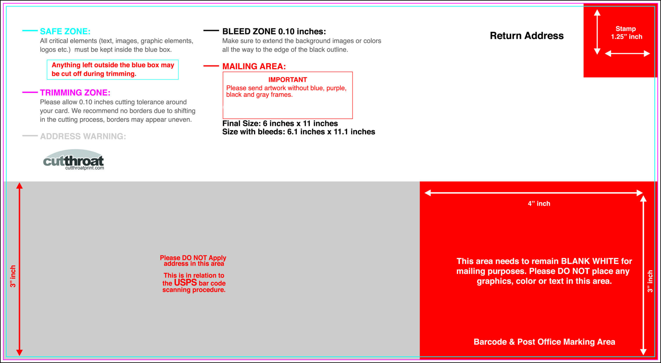 6 X 9 Postcard Template - Tunu.redmini.co Regarding 6X11 Postcard Template