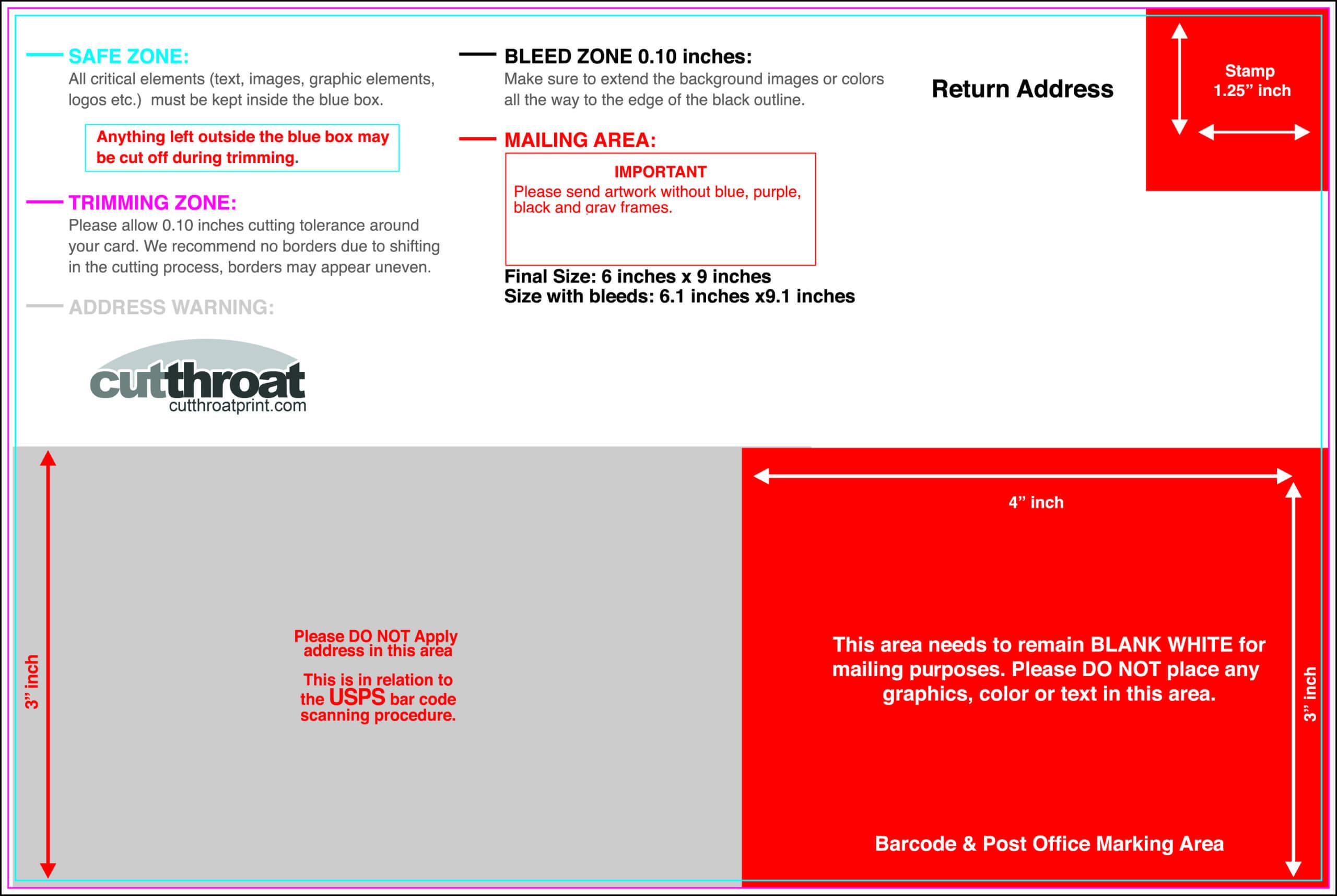6 X 9 Postcard Template - Tunu.redmini.co Within 6X9 Postcard Template