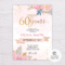60Th Birthday Invitation – Colona.rsd7 For 60Th Birthday Party Invitation Template