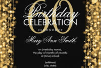 60Th Birthday Party Invitation Template – C-Punkt inside 60Th Birthday Party Invitation Template