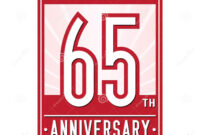 65 Years Celebrating Anniversary Design Template. 65Th Logo pertaining to 65 Label Template