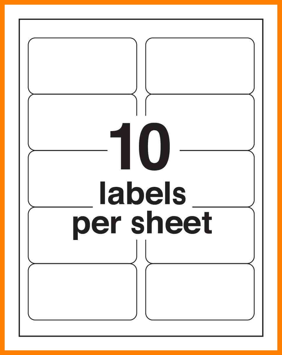 7+ Avery 2×4 Label Template | Time Table Chart For 2X4 Label Template
