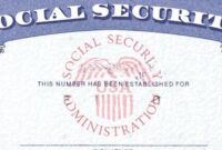 7 Social Security Card Template Psd Images – Social Security with regard to Blank Social Security Card Template Download
