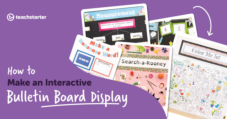 7 Ways To Create An Interactive Bulletin Board Display Regarding Bulletin Board Template Word