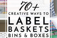 70+ Creative Ways To Label Baskets, Bins, Boxes And More throughout Bin Labels Template