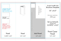 """8.5"""" X 14"""" Double Parallel Brochure Template – U.s. Press within Brochure Rubric Template"""