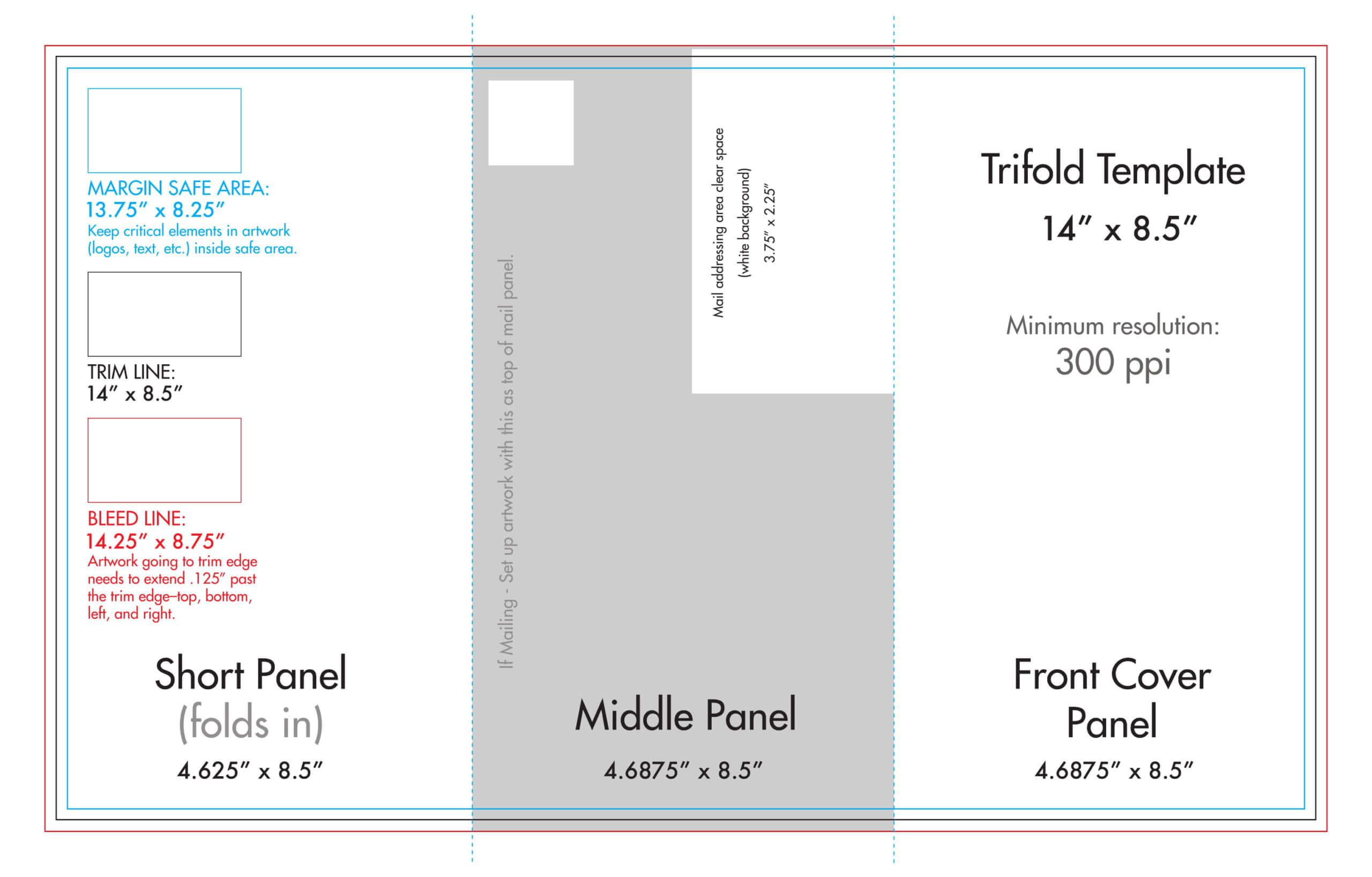 "8.5"" X 14"" Tri Fold Brochure Template - U.s. Press Regarding 6 Sided Brochure Template"
