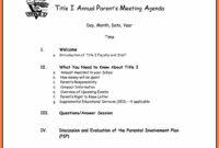 8+ Free Business Meeting Agenda Template Word   Andrew Gunsberg intended for Agenda Template Word 2010