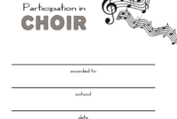 8+ Free Choir Certificate Of Participation Templates – Pdf for Certificate Of Participation Word Template