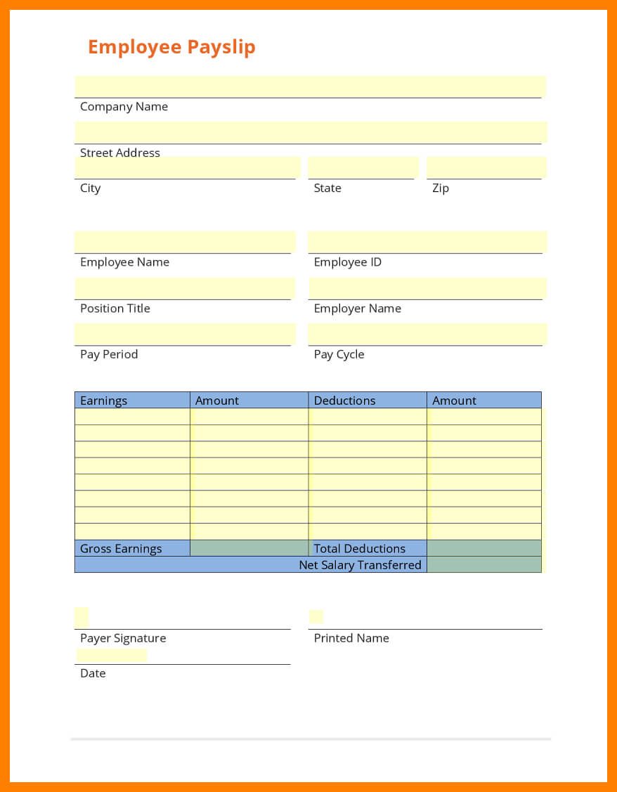 8+ Free Payslip Template Download | Shrewd Investment For Blank Payslip Template