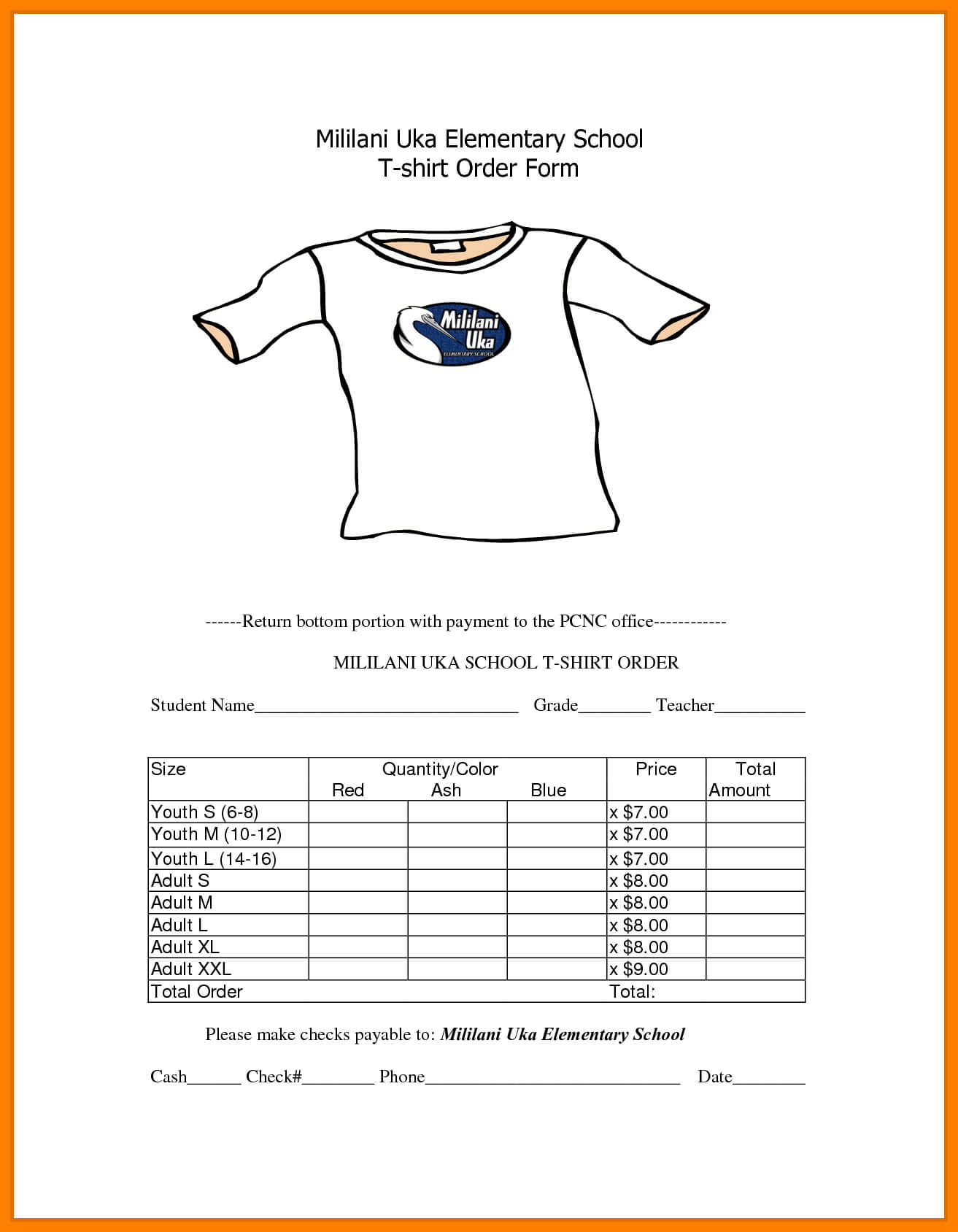 8+ Free T Shirt Order Form Template | Marlows Jewellers Regarding Blank T Shirt Order Form Template