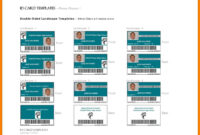 8+ Id Card Format In Ms Word | Letter Adress with regard to Business Card Template For Word 2007