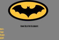 9 Awesome Batman Birthday Invitations | Kittybabylove with Batman Birthday Card Template