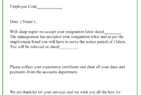 9+ Resignation Acceptance Letter Template [Examples with Certificate Of Acceptance Template