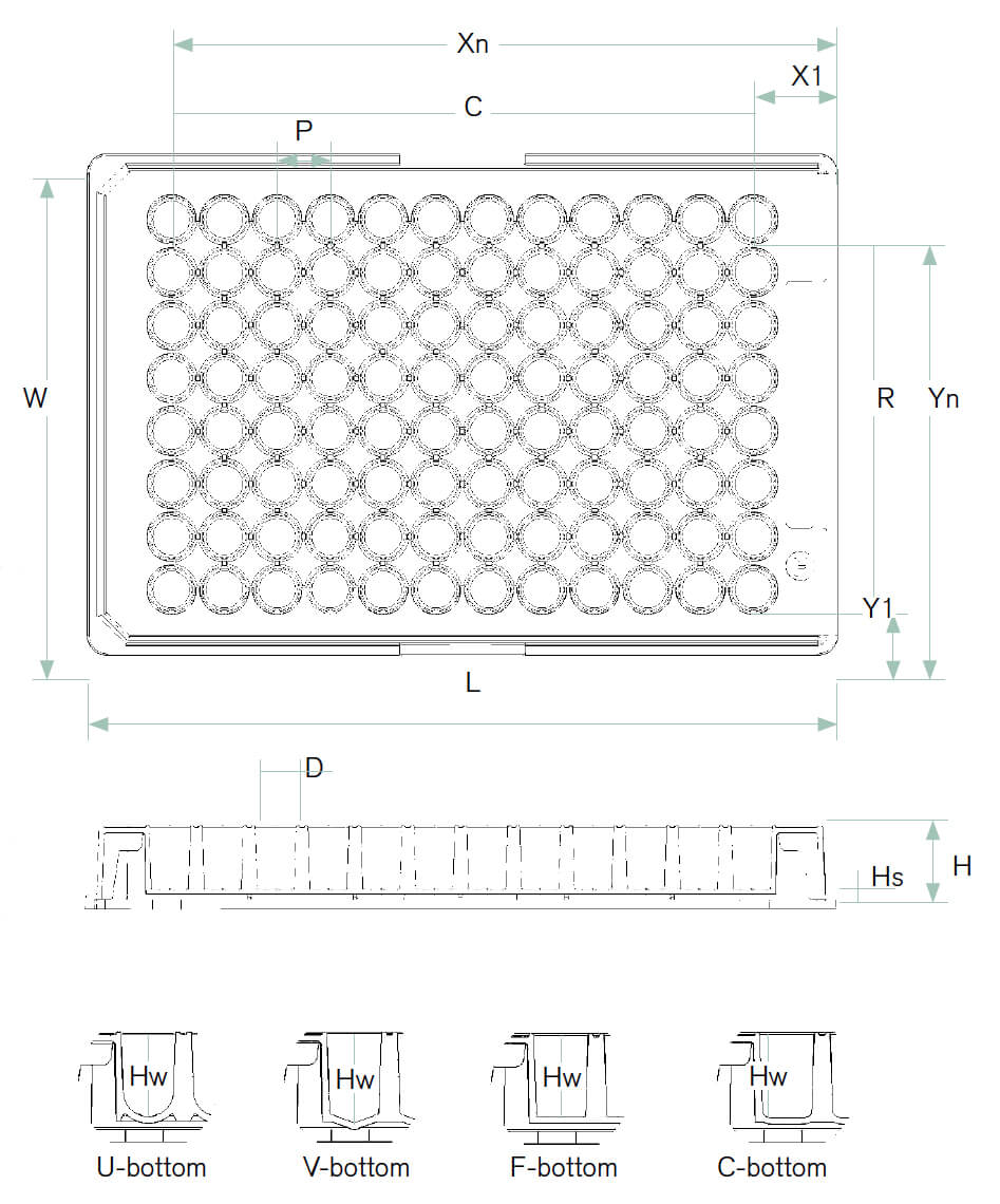 96 Well Plate Dimensions | Brandplates Standard 96 Well With Regard To 384 Well Plate Template