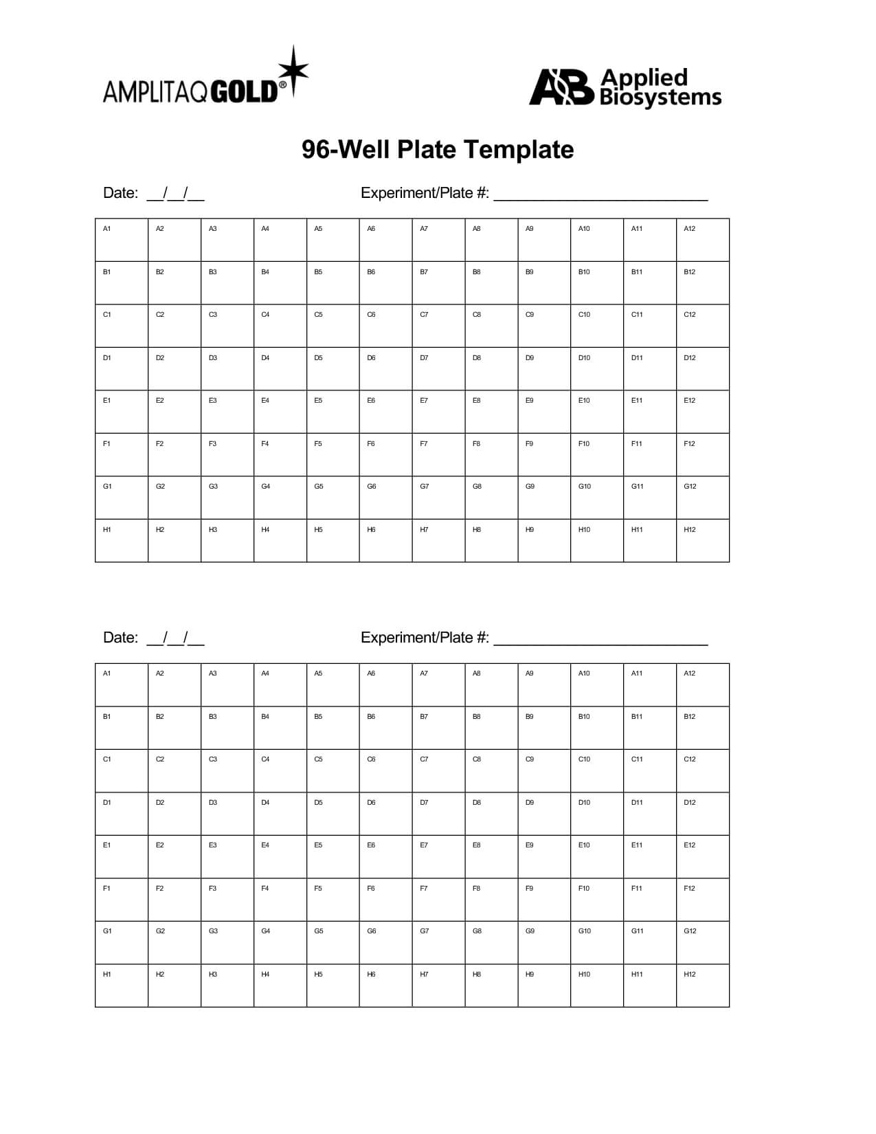 96 Well Template Word – Jalax Throughout 96 Well Plate Template