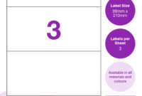 99Mm X 210Mm Labels 3 Per Sheet | Keon Labels regarding 3 Labels Per Sheet Template