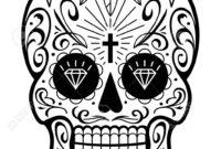 9C5248 Sugar Skull Template | Wiring Library inside Blank Sugar Skull Template