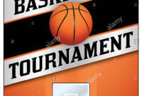 A Flyer Or Poster Illustration Design For A Basketball for Basketball Tournament Flyer Template