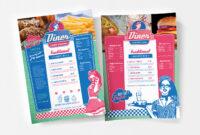 A4 American Diner Menu Template In Psd, Ai & Vector – Brandpacks for 50S Diner Menu Template
