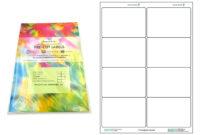 A4 Pre-Cut Multi Matte White Paper Labels (2X4, 8 Labels Per for 3X8 Label Template