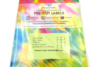 A4 Pre-Cut Multi Matte White Paper Labels (2X4, 8 Labels Per throughout 2X4 Label Template