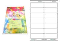 A4 Pre-Cut Multi Matte White Paper Labels (2X7, 14 Labels inside 3X8 Label Template