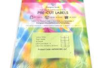 A4 Pre-Cut Multi Matte White Paper Labels (2X7, 14 Labels within 3X8 Label Template