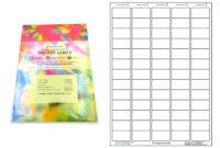 A4 Pre-Cut Multi Matte White Paper Labels (5X13, 65 Labels throughout 65 Label Template
